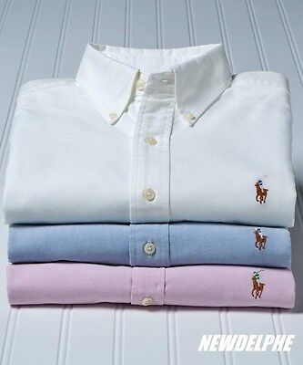 NWT POLO RALPH LAUREN Custom-Fit Oxford Button Down Long Sleeved Shirt MSRP $98