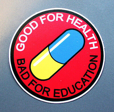 "Sticker 3 pack of - 3"" inch Good for health Bad for education manga anime akira"