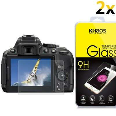 [2-Pack] KS Ballistic Glass Screen Protector For Nikon D5300 D5500