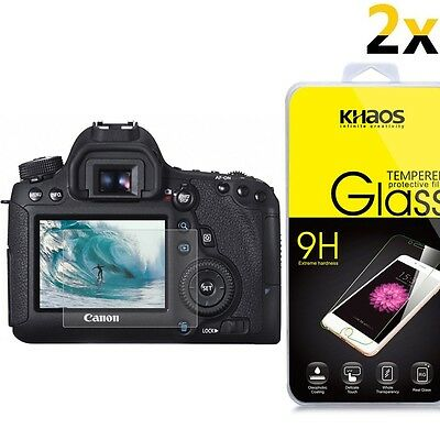 [2-Pack] KS Glass Screen Protector For Canon T6i(750D) / T6s(760D) / 7D Mark II