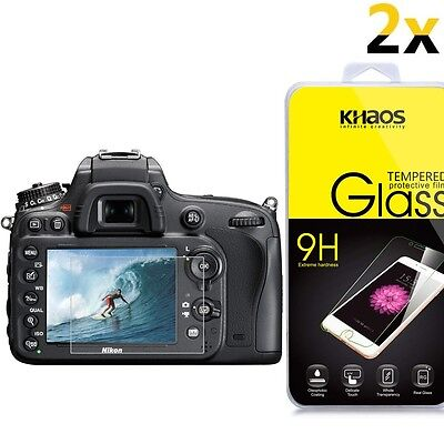 [2-Pack] KHAOS Glass Screen Protector For Nikon D810 / D7100 / DF / D750 / D7200