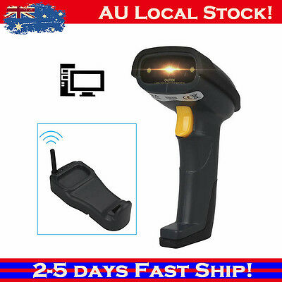Wireless Cordless Portable Barcode Code Laser Scanner Inductive Charging 300M bz