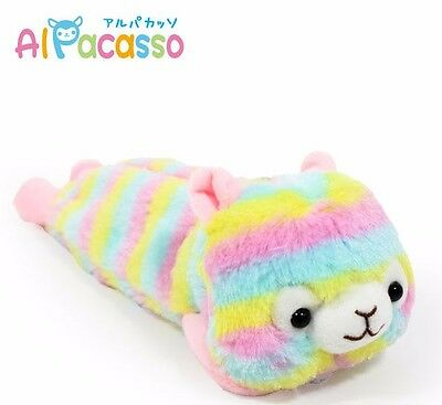 10''  Alpacasso Amuse Rainbow Pen bag Llama Alpaca Plush Back to School