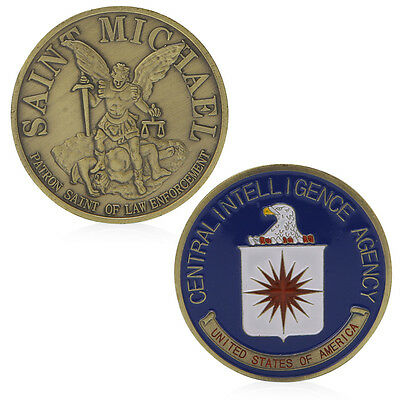Saint Michael US Central Intelligence Agency Commemorative Challenge Coins Gift