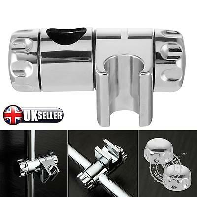 Replacement 25mm ABS Chrome Shower Rail Head Slider Holder Adjustable Bracket