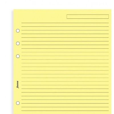 Filofax 343010 - A5 Yellow ruled notepaper