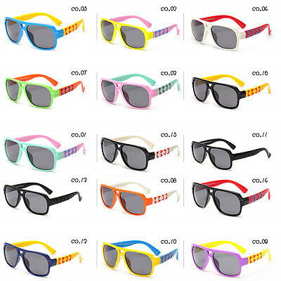 Protect Children's Eyes Colorful Soft Polarized Glasses Sunglasses for Kids