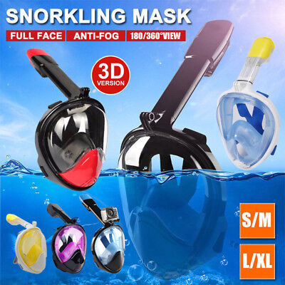 Full Face Diving Snorkel Snorkeling Mask Swimming Goggles for GoPro AU Stock