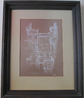 Joe Capozio~Middle 20th Century Artist~original Drawing~architectural