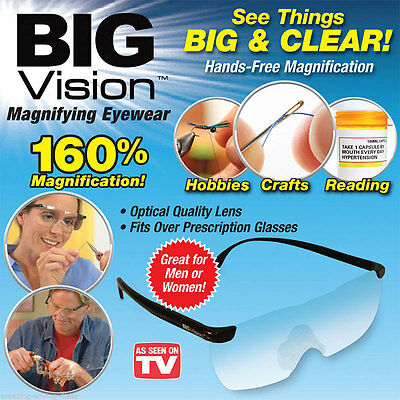 Big Vision  160% Magnification Presbyopic Reading TV Everything Glasses Eyewear