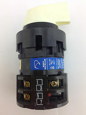 b0079d97a7e1b1 KRAUS   NAIMER B9 D2R250-600 ES1 Blue Line Rotary Switch 4 Posn 3 Contacts