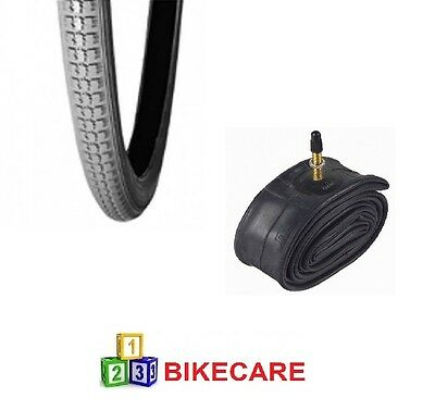 Grey 24x1 3/8 Wheelchair/Bike Tyre With Tyre Tube vc-2803