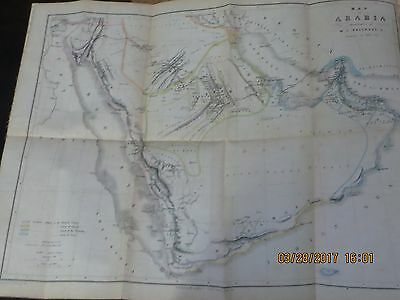 Old Maps. Map Of Arabia Illustrative Of W. G. Palgrave 1862-1863.