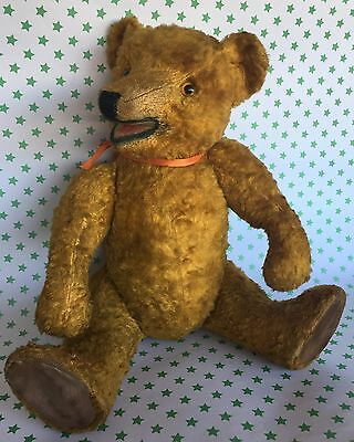 Antique Bear Moves Head Arms and Legs