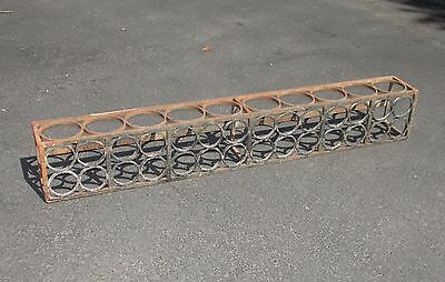 Antique Wrought Iron Architectural Window Box Mid Century or Art Deco