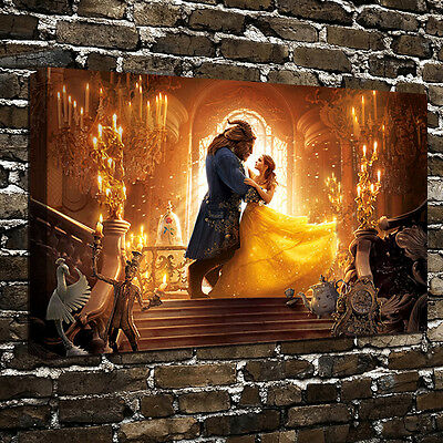 Beauty and the Beast Art HD Print Oil Painting on Canvas Wall Decor 16x24 Poster