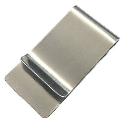 Classic Money Clip Cash Stash Holder Minimal-Wallet Strong Stainless Steel Wide