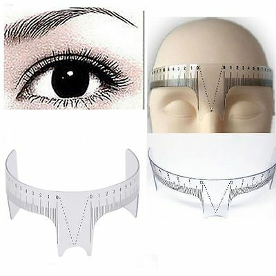 Reusable Tattoo Supplies Measure Microblading Eyebrow Ruler Brow Stencil