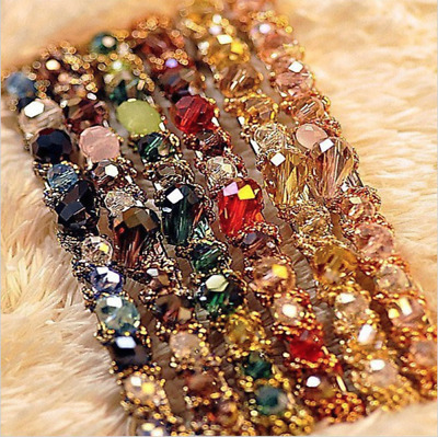 NEW Beautiful Faceted Crystal Jewelled Hair Clip, 7 Colours, UK Seller