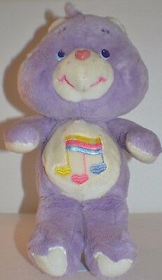 "**13"" HTF Vintage UK Exclusive Plush Harmony Bear Care Bears**"