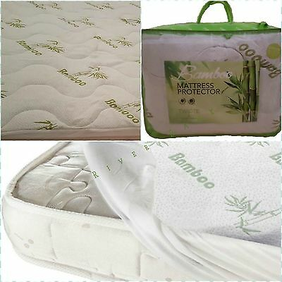 High Quality Quilted Bamboo Memory Foam Pillow & Mattress Protector Toppers