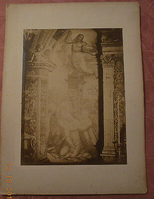 Vintage Photo 15.5 X 20 Inches Saint Catherine of Siena in the Chiesa  by Bazzi
