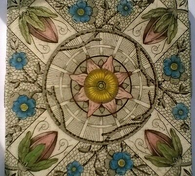 Arts And Crafts 19Th Century Tile. 6X6 Inches