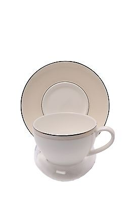 6 Clear Compact Cup and Saucer Display Stands (Item #400)