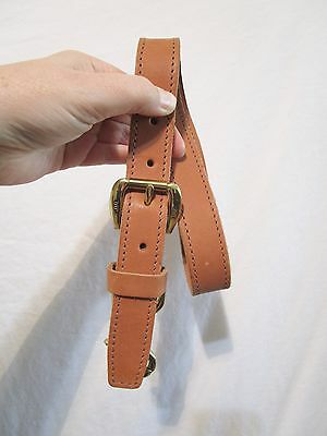 King Ranch Brown Leather Pullman Luggage Replacement Pull Strap Brass Hardware