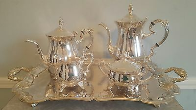 International Silver 5 Piece Silver Plated Tea Coffee Serving Set  Mother's Day