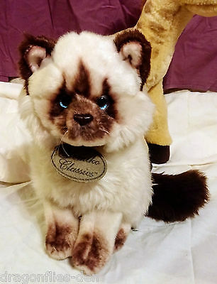 "Yomiko Classics HIMALAYAN CAT 8"" Plush Russ Kitten  Leather Yomiko Tag attached"
