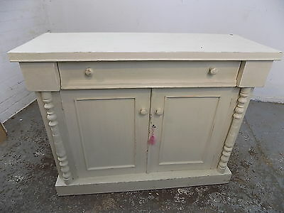 small,painted,antique,edwardian,sideboard,chiffonier,cupboard,cabinet,drawers