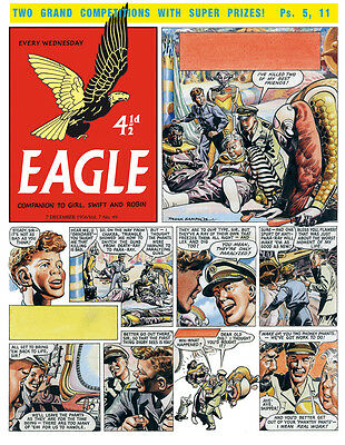 Original Artwork by Frank Hampson. Rogue Planet from Eagle 7/49 1956