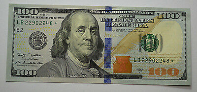 ONE* $100* 2009-A* US Hundred Dollar Bill ONE(1) STAR *NOTE  UNC*RCULATED