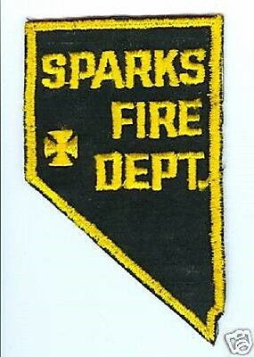 City Of Sparks Nevada. Vintage 1960s Fire Department CHEESE CLOTH Patch.
