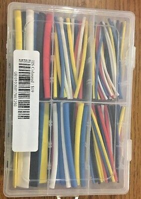 200-300Pcs 2:1 Heat Shrink Tubing Tube Sleeving Wrap Cable Wire 5 Color 6