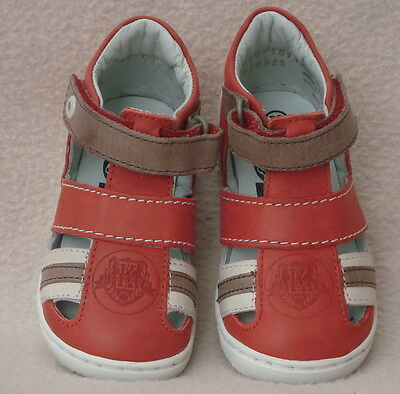 Kickers Toddler Red/multi Leather Sandals Size Uk 4 (20)