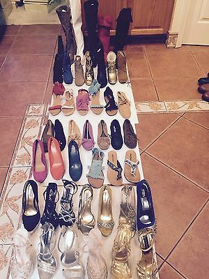 NEW Lot 10 Pair GREAT BRANDS SHOES Boots Sandals Wedges Heels Slip-Ons Size 7
