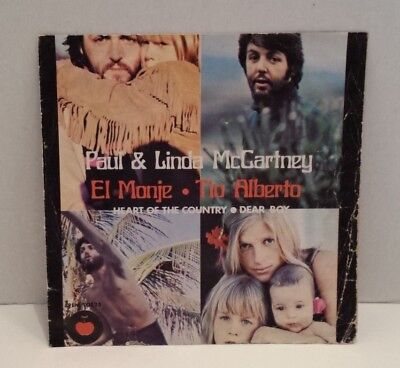 "Paul & Linda McCartney HEART OF THE COUNTRY EP 7""  w/GFPS IMP MEXICO  10523"