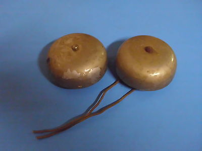 Lot Of 2 Vintage Door Bells Gents Of Leicester Untested