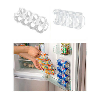 Beer Soda Can Holder Storage Kitchen Fridge Organization Rack Plastic Space
