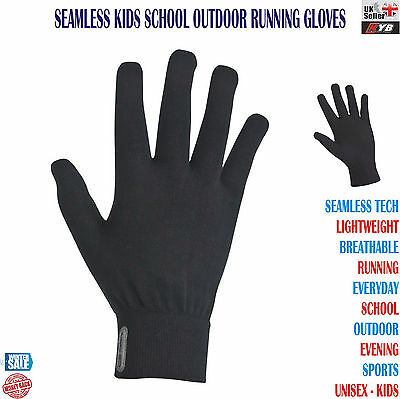 New Kids Youth Seamless Gloves Boys Girls School Everyday Running Sports Outdoor