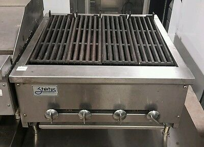 "Used Stratus 24"" Radiant Nat. Gas Charbroiler"