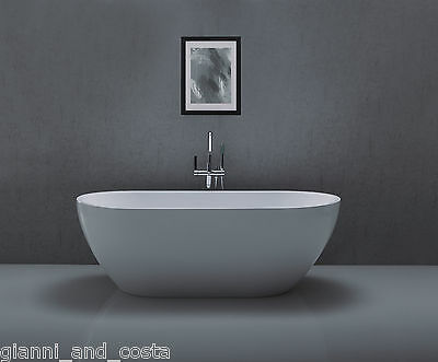 Bathroom Acrylic Free Standing Bath Tub Thin Edge 1700x800x600 - FREESTANDING