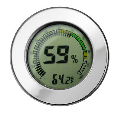 Digital Hygrometer w/ Calibration (Silver)