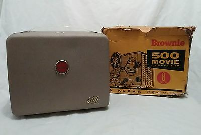 Vintage Kodak Brownie 500 8mm Movie Projector No. 189 Tested and working!