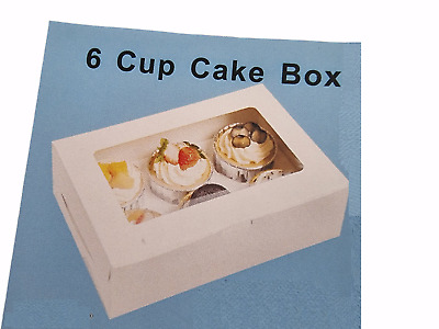 6 pack of Cupcake muffin boxes - Fairy Cup Cake Boxes choice of NEW designs UK