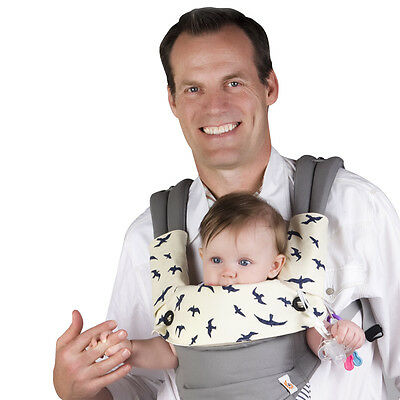 Drool-and-Teething-Pad-for-Ergobaby-Four-Position-360-Baby-Carrier-3-Piece-Set