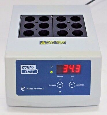 Fisher Scientific Digital Dry-Bath Incubator Isotemp D125, 25 mm Test Tubes