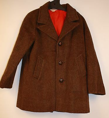 "ORGINAL VINTAGE 1950s BOYS  COAT. SIZE 24. "" BAMBURY "" ALL WOOL."